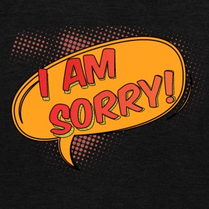 I am Sorry - Unisex Fleece Zip Hoodie by American Apparel