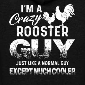 Rooster Tee Shirt - Unisex Fleece Zip Hoodie by American Apparel