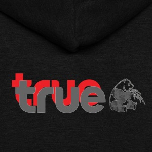 True Panda - Unisex Fleece Zip Hoodie by American Apparel