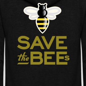 Save The Bees Beekeeper Quote Design - Unisex Fleece Zip Hoodie by American Apparel