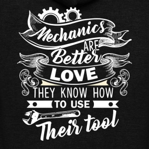 Mechanic Are Better Love Shirt - Unisex Fleece Zip Hoodie by American Apparel