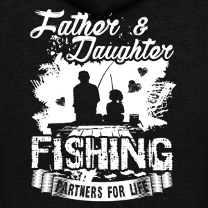Father And Daughter Fishing Partners Shirt - Unisex Fleece Zip Hoodie by American Apparel