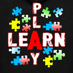 JIGSAW PUZZLE LEARN AND PLAY SHIRT - Unisex Fleece Zip Hoodie by American Apparel
