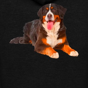 Bernese Mountain Dog T Shirt - Unisex Fleece Zip Hoodie by American Apparel