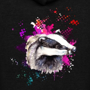 Badger Tee Shirt - Unisex Fleece Zip Hoodie by American Apparel