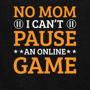 No Mom I Cant Pause An Online Game Funny - Unisex Fleece Zip Hoodie by American Apparel