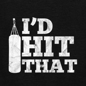 i'd hit that - gift for boxing people - Unisex Fleece Zip Hoodie by American Apparel