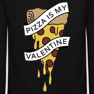 PIZZA IS MY VALENTINE PIZZA LOVE TEAM 10 - Unisex Fleece Zip Hoodie by American Apparel