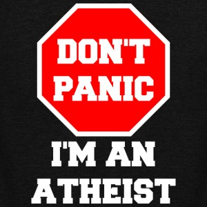 don't panic I'm An Atheist - Unisex Fleece Zip Hoodie by American Apparel