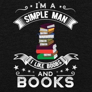 I'm a simple man I like boobs and books - Unisex Fleece Zip Hoodie by American Apparel