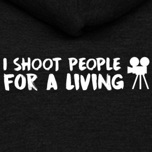 I shoot people for a living - Unisex Fleece Zip Hoodie by American Apparel