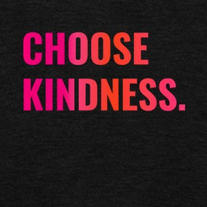 Choose Kindness Sunset Tone Pink to Tangerine - Unisex Fleece Zip Hoodie by American Apparel