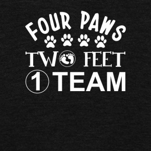 Four Paws Two Feet One Team Dog Lover - Unisex Fleece Zip Hoodie by American Apparel