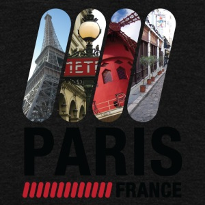 Paris, France - Unisex Fleece Zip Hoodie by American Apparel