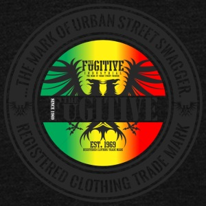 FUGITIVE 2423 RASTA GRADIENT - Unisex Fleece Zip Hoodie by American Apparel