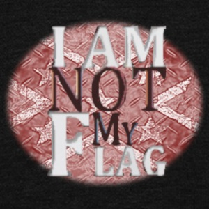 I AM NOT MY FLAG - Unisex Fleece Zip Hoodie by American Apparel