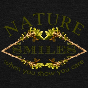 nature smiles - Unisex Fleece Zip Hoodie by American Apparel