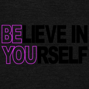Believe In Yourself - Unisex Fleece Zip Hoodie by American Apparel
