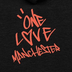 one love manchester - Unisex Fleece Zip Hoodie by American Apparel