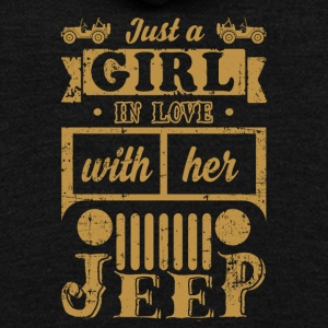 Just A Girl In Love With Her Jeep T-Shirt - Unisex Fleece Zip Hoodie by American Apparel