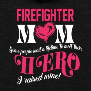 Firefighter Mom T Shirt - Unisex Fleece Zip Hoodie by American Apparel