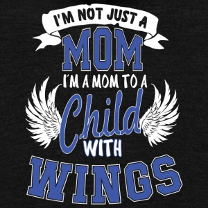 Mom Child Wings T Shirt - Unisex Fleece Zip Hoodie by American Apparel