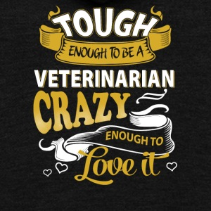 Touch enough to be a Veterinarian - Unisex Fleece Zip Hoodie by American Apparel