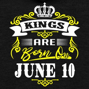 Kings are born on JUNE 10 - Unisex Fleece Zip Hoodie by American Apparel