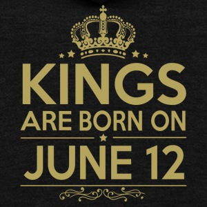 Kings are born on JUNE 12 - Unisex Fleece Zip Hoodie by American Apparel