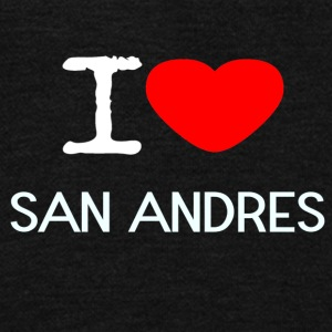 I LOVE SAN ANDRES - Unisex Fleece Zip Hoodie by American Apparel