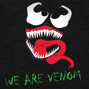 Venom - Unisex Fleece Zip Hoodie by American Apparel