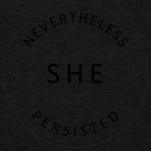 nevertheless she persisted - Unisex Fleece Zip Hoodie by American Apparel