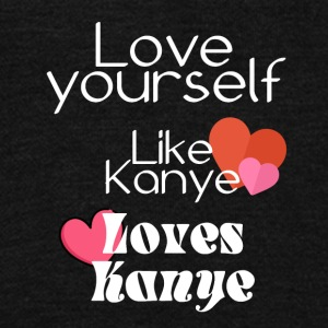 Love yourself like Kanye loves Kanye - Unisex Fleece Zip Hoodie by American Apparel