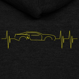 5th Generation Camaro Heartbeat Yellow - Unisex Fleece Zip Hoodie by American Apparel