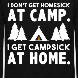 I don't get homesick at camp - Unisex Fleece Zip Hoodie by American Apparel