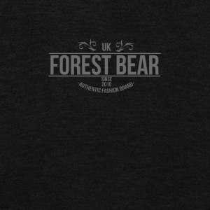 FOREST BEAR - Unisex Fleece Zip Hoodie by American Apparel