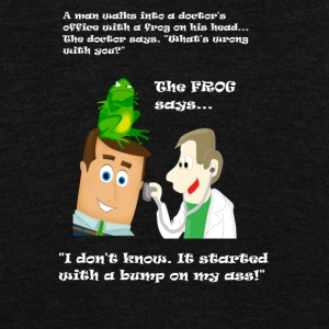Man with Frog on His Head Goes to the Doctor - Unisex Fleece Zip Hoodie by American Apparel