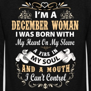 I'm a december woman I was born with my heart - Unisex Fleece Zip Hoodie by American Apparel