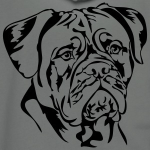 Dogue de Bordeaux - Unisex Fleece Zip Hoodie by American Apparel