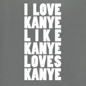 I Love Kanye White - Unisex Fleece Zip Hoodie by American Apparel