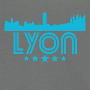 Retro Lyon Skyline - Unisex Fleece Zip Hoodie by American Apparel