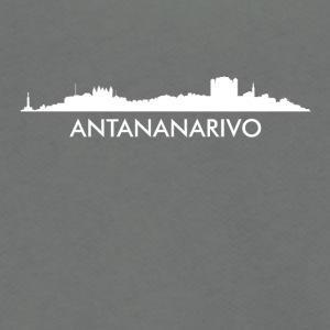 Antananarivo Madagascar Skyline - Unisex Fleece Zip Hoodie by American Apparel
