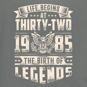 Life Begins at Thirty-Two Legends 1985 for 2017 - Unisex Fleece Zip Hoodie by American Apparel