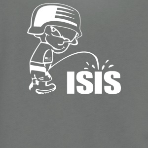 Pee On Isis Decal Look - Unisex Fleece Zip Hoodie by American Apparel