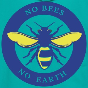 No Bees - No Earth - Unisex Fleece Zip Hoodie by American Apparel