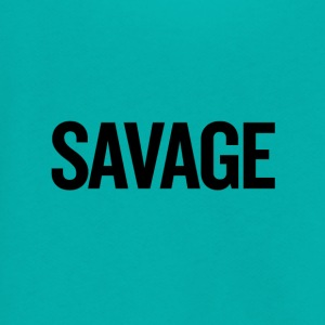 Savage Black - Unisex Fleece Zip Hoodie by American Apparel
