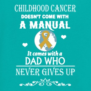 Childhood Cancer Dad Shirt - Unisex Fleece Zip Hoodie by American Apparel