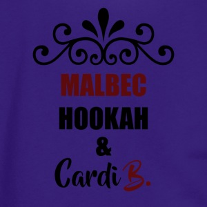 Malbec, Hookah & Cardi B. - Unisex Fleece Zip Hoodie by American Apparel