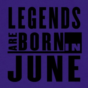 LEGENDS ARE BORN IN JUNE - Unisex Fleece Zip Hoodie by American Apparel