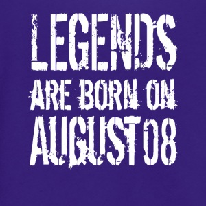 Legends are born on August 08 - Unisex Fleece Zip Hoodie by American Apparel